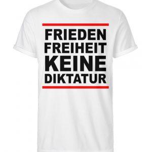 Frieden, Freiheit, keine Diktatur. Design für den Widerstand. Demo - Herren RollUp Shirt-3