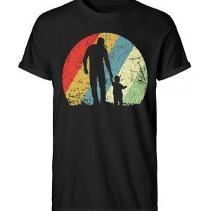 Vater und Sohn im Kreis mit leichtem Grunge-Effekt. Vintage Farben - Herren RollUp Shirt-16