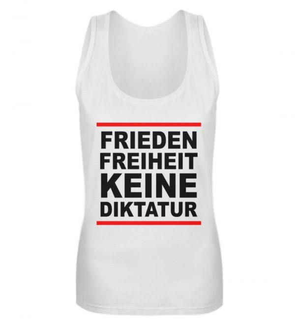 Frieden, Freiheit, keine Diktatur. Design für den Widerstand. Demo - Frauen Tanktop-3
