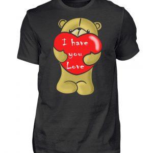 Ein süßer, verliebter Bär mit schlechtem Englisch macht Dir eine Liebeserklärung - Herren Shirt-16
