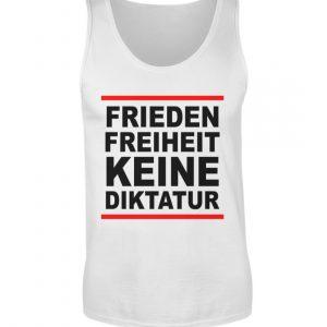 Frieden, Freiheit, keine Diktatur. Design für den Widerstand. Demo - Herren Tanktop-3