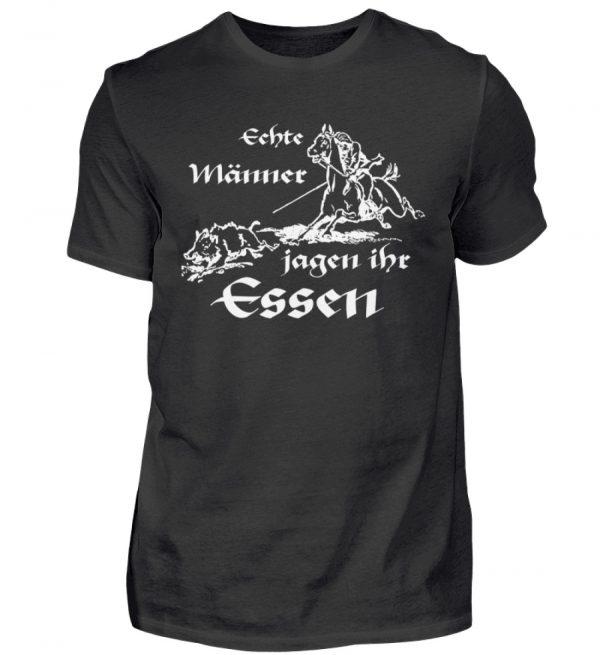 Echte Männer jagen ihr Essen. Homage an den Jäger und echten Mann - Herren Shirt-16