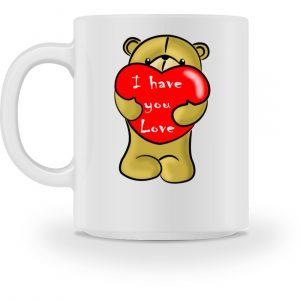 Ein süßer, verliebter Bär mit schlechtem Englisch macht Dir eine Liebeserklärung - Tasse-3