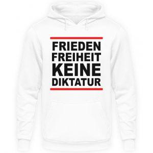 Frieden, Freiheit, keine Diktatur. Design für den Widerstand. Demo - Unisex Kapuzenpullover Hoodie-1478