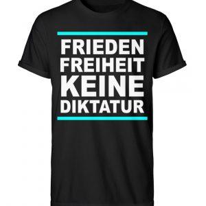 Frieden, Freiheit, keine Diktatur. Design für den Widerstand. Demo - Herren RollUp Shirt-16