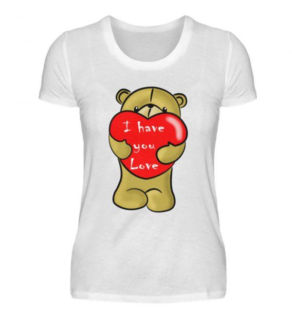 Ein süßer, verliebter Bär mit schlechtem Englisch macht Dir eine Liebeserklärung - Damenshirt-3