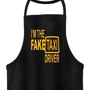 I-m the fake Txi Driver Taxifahrer Geschenkidee für Droschkenfahrer - Hochwertige Grillschürze-16