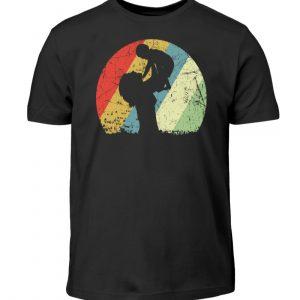 Mutter mit Kind im Kreis mit leichtem Grunge-Effekt. Vintage Farben - Kinder T-Shirt-16