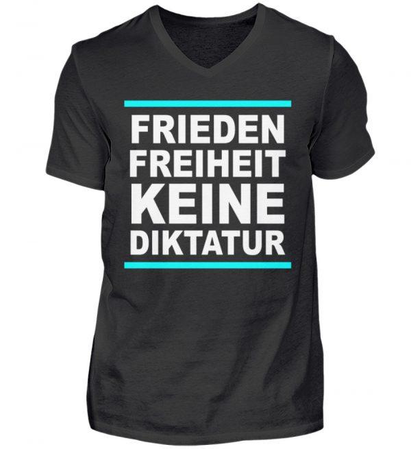 Frieden, Freiheit, keine Diktatur. Design für den Widerstand. Demo - Herren V-Neck Shirt-16