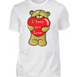 Ein süßer, verliebter Bär mit schlechtem Englisch macht Dir eine Liebeserklärung - Herren Shirt-3