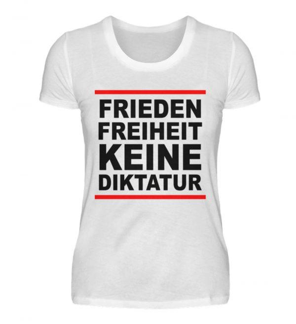 Frieden, Freiheit, keine Diktatur. Design für den Widerstand. Demo - Damenshirt-3