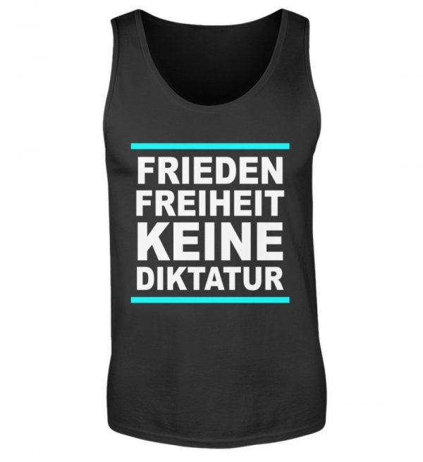 Frieden, Freiheit, keine Diktatur. Design für den Widerstand. Demo - Herren Tanktop-16
