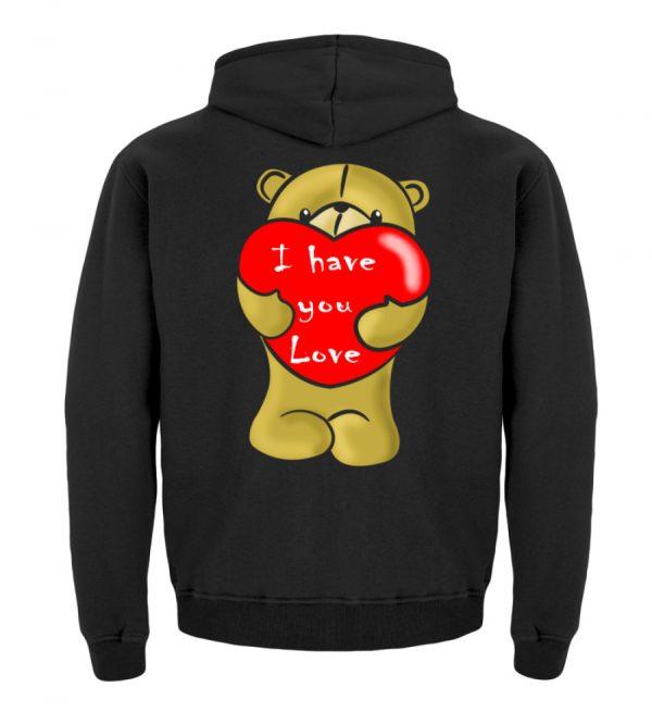 Ein süßer, verliebter Bär mit schlechtem Englisch macht Dir eine Liebeserklärung - Kinder Hoodie-1624