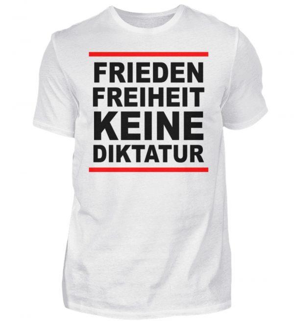 Frieden, Freiheit, keine Diktatur. Design für den Widerstand. Demo - Herren Premiumshirt-3