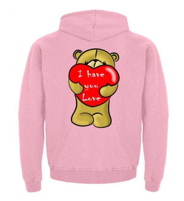 Ein süßer, verliebter Bär mit schlechtem Englisch macht Dir eine Liebeserklärung - Kinder Hoodie-1490