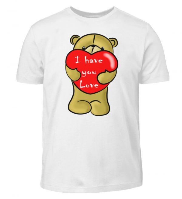 Ein süßer, verliebter Bär mit schlechtem Englisch macht Dir eine Liebeserklärung - Kinder T-Shirt-3