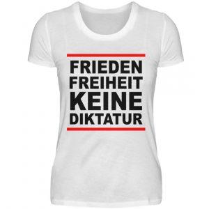 Frieden, Freiheit, keine Diktatur. Design für den Widerstand. Demo - Damen Premiumshirt-3