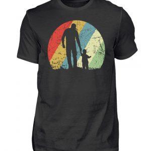 Vater und Sohn im Kreis mit leichtem Grunge-Effekt. Vintage Farben - Herren Shirt-16