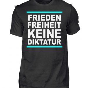 Frieden, Freiheit, keine Diktatur. Design für den Widerstand. Demo - Herren Premiumshirt-16