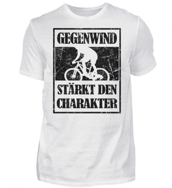 Gegenwind stärkt den Charakter. Geschenkidee für Radfahrer, Biker, Mountainbiker. Grunge - Herren Shirt-3