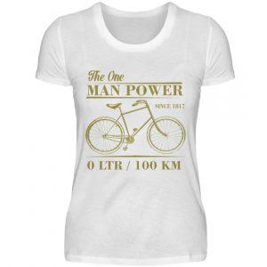 One Man Powered Machine. Tolle Geschenkidee für Fahrrad Fahrer. - Damenshirt-3