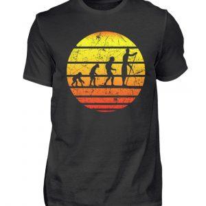 SUP Shirt mit Evolution zum Stand Up Paddler | Design Shirt für Stand Up Paddling - Herren Shirt-16