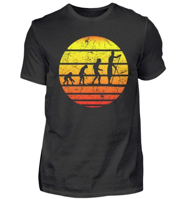 SUP Shirt mit Evolution zum Stand Up Paddler   Design Shirt für Stand Up Paddling - Herren Shirt-16