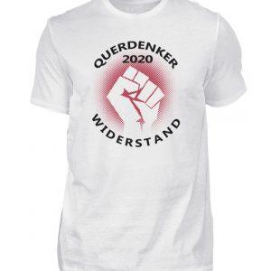 Geschenkidee für Querdenker und Freunde des Widerstands. Selber denken statt Panik - Herren Shirt-3