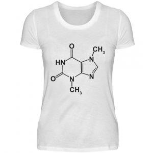 Schokolade macht Dich glücklich. Chemische Formel für Schokoladenfans - Damenshirt-3
