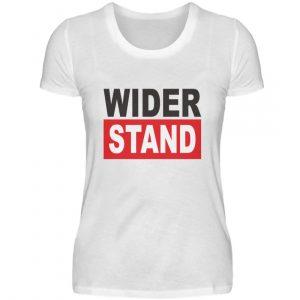 Widerstand. Das Shirtdesign für den aktiven Widerstand gegen Grundrechtseinschränkungen - Damenshirt-3
