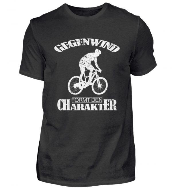 Gegenwind formt den Charakter. Geschenkidee für Radfahrer, Biker, Mountainbiker. Grunge - Herren Shirt-16