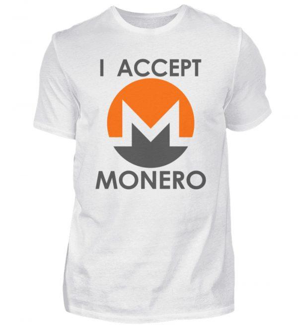 Monero Cryptowährung Internetgeld Internetwährung. Monero-Logo. I accept Monero - Herren Shirt-3