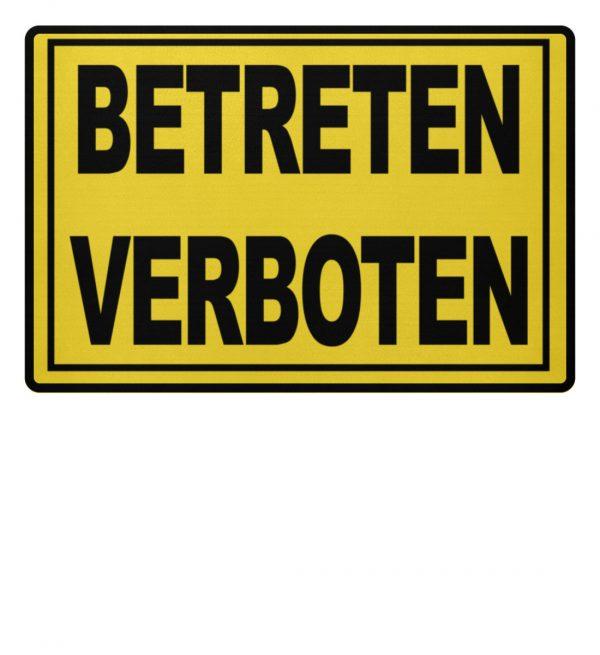 Betreten Verboten Fußmatte. Warnschuld-Optik in knalligen Farben - Fußmatte-5766