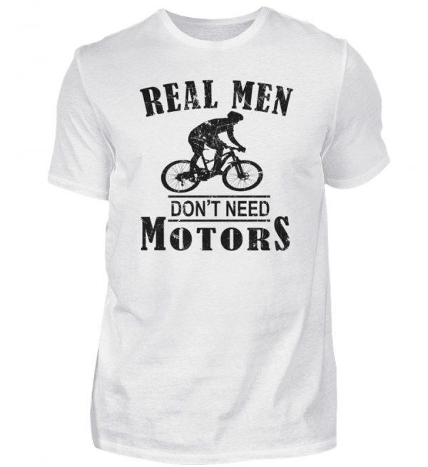 Cooles Shirt für Fahrradfahrer, die keinen Motor brauchen weil sie echte Männer sind - Herren Shirt-3