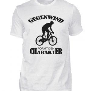 Gegenwind formt den Charakter. Geschenkidee für Radfahrer, Biker, Mountainbiker - Herren Shirt-3