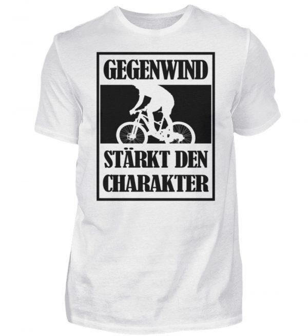 Gegenwind stärkt den Charakter. Geschenkidee für Radfahrer, Biker, Mountainbiker - Herren Shirt-3