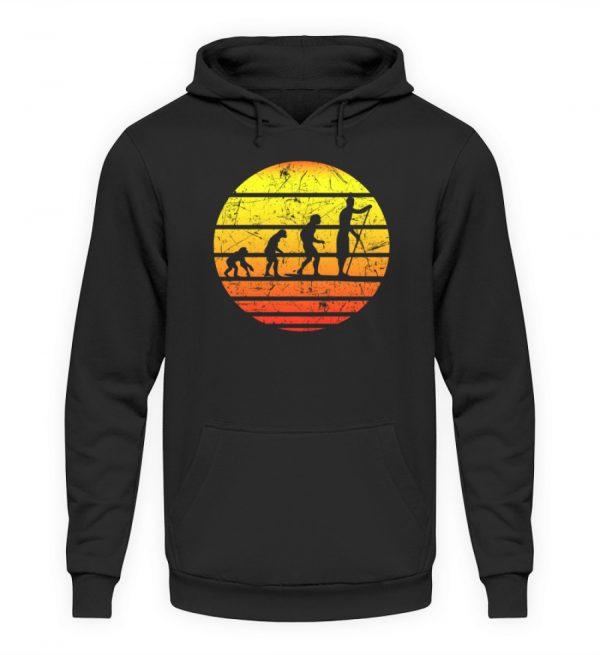 SUP Shirt mit Evolution zum Stand Up Paddler | Design Shirt für Stand Up Paddling - Unisex Kapuzenpullover Hoodie-1624