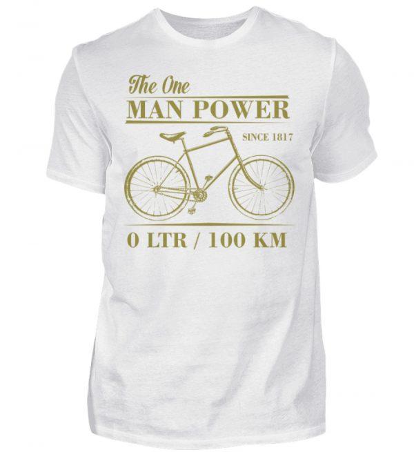 One Man Powered Machine. Tolle Geschenkidee für Fahrrad Fahrer. - Herren Shirt-3