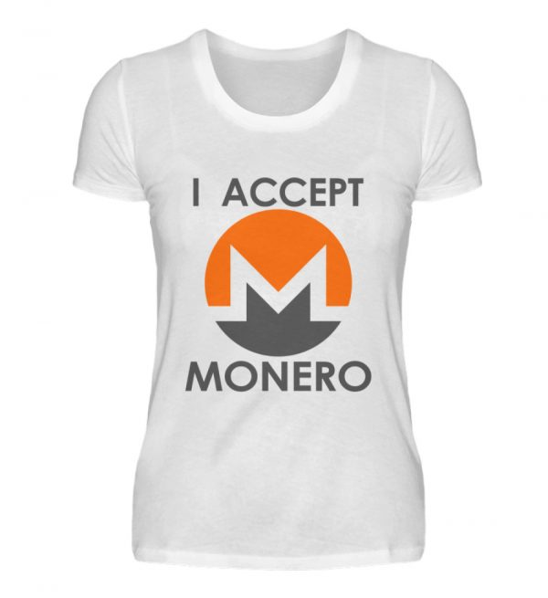 Monero Cryptowährung Internetgeld Internetwährung. Monero-Logo. I accept Monero - Damenshirt-3