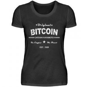 Satoshi Nakamoto, der geheimnisumwitterte Erfinder der Cryptowährung Bitcoin - Damenshirt-16