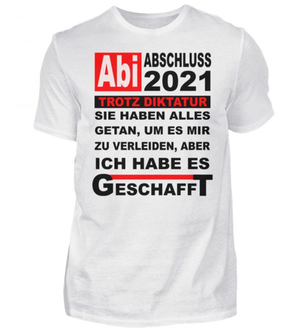 Lustiges Shirt für den Schulabschluss, Abitur 2021. Herzlichen Glückwunsch - Herren Shirt-3