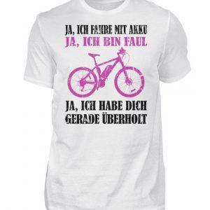 Geschenkidee für Pedalec-Fahrer, Fahrrad fahrer und Akku Rad Fahrer. Ich fahre mit Akku - Herren Shirt-3