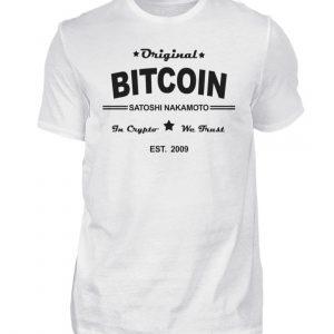 Satoshi Nakamoto, der geheimnisumwitterte Erfinder der Cryptowährung Bitcoin - Herren Shirt-3