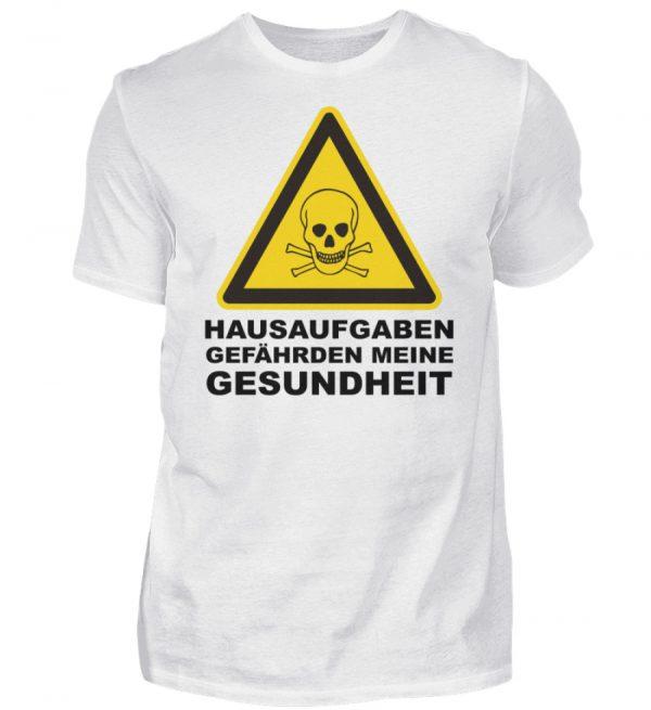 Lustiges Schul Tshirt. Hausaufgaben gefährden meine Gesundheit. - Herren Shirt-3